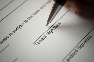 rental agreement sign