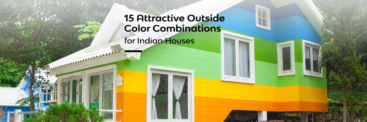 15 attractive oustide color combination for Indian houses