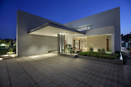white and gray colour house