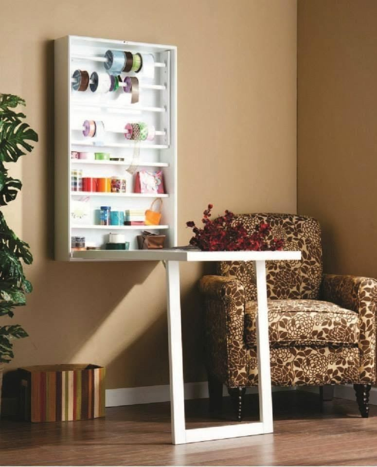 wall-Mounted Corner Table