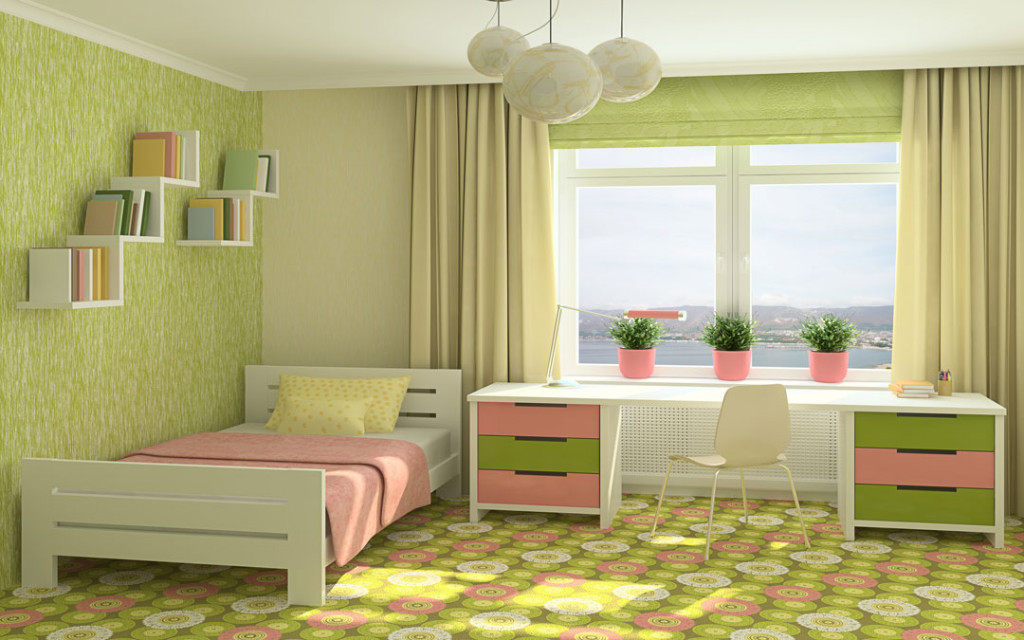 Lime green and Yellow paint colour combinations for bedroom