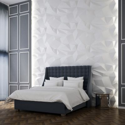 latest wall paint texture design for bedroom
