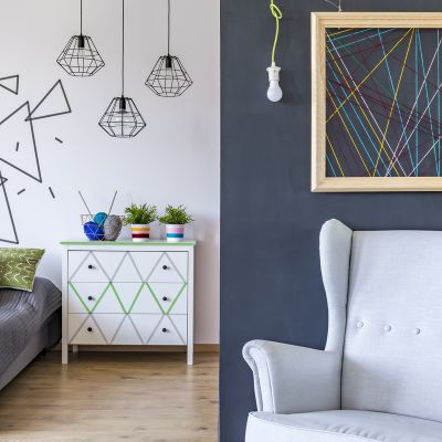 creative wall painting designs for bedroom