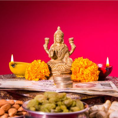 Altar Decoration for Laxmi Puja at home