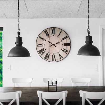 Giant Wall clock in the Living room