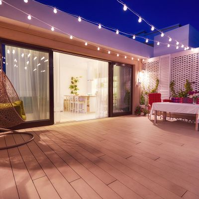 Terrace Decoration with Light