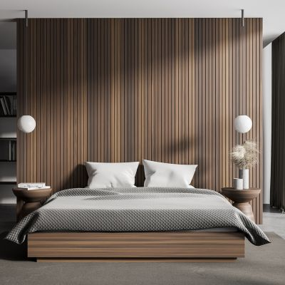Wooden texture bedroom
