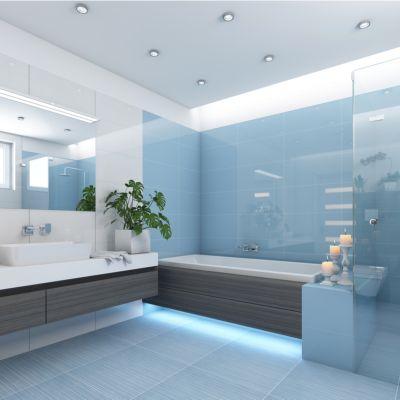 Blue Bathroom Floor Tile Ideas For A Tranquil Look