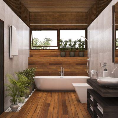 Brown Bathroom Floor Tile Ideas