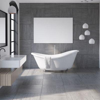 Grey Bathroom Floor Tiles Ideas For An Industrial-Chic Look