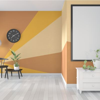 Light Orange Paint Colours For The Living Room To Get The Vibrance