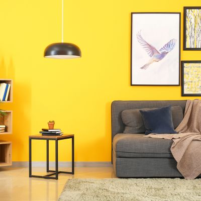 Light Yellow Paint Colour For The Living Room To Add A Cheerful Vibe