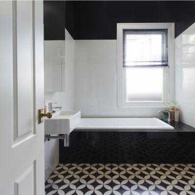 Pattern Floor Tile Design For Bathroom