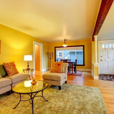 Rooms With A Warm Colour Combination.