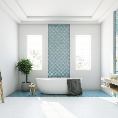 White Bathroom Floor Tile Ideas For A Simplistic Look
