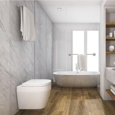 Wood Tile, Floor Bathroom Ideas